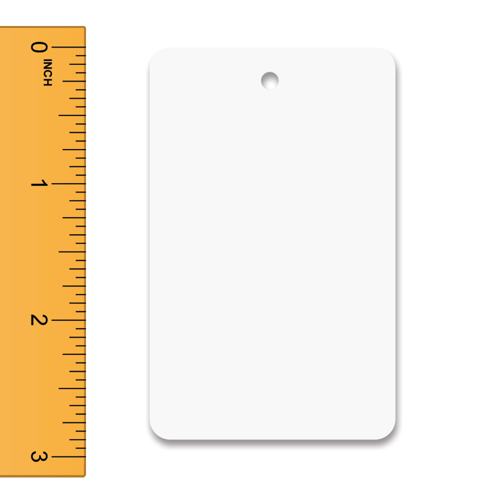 White Unstrung Tags - 1 1/4 in. W x 1 7/8 in. H