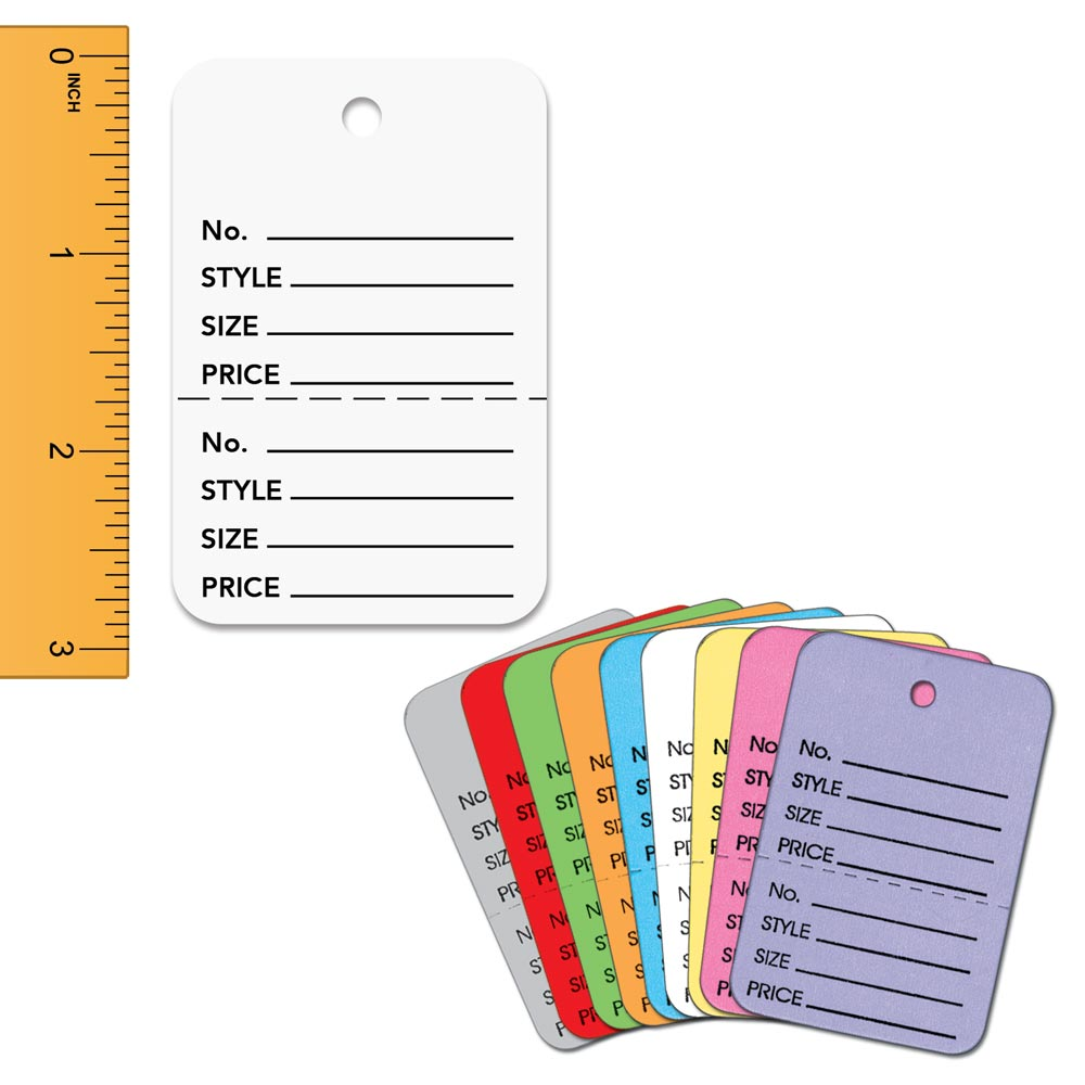 Large Colored Perforated Tags