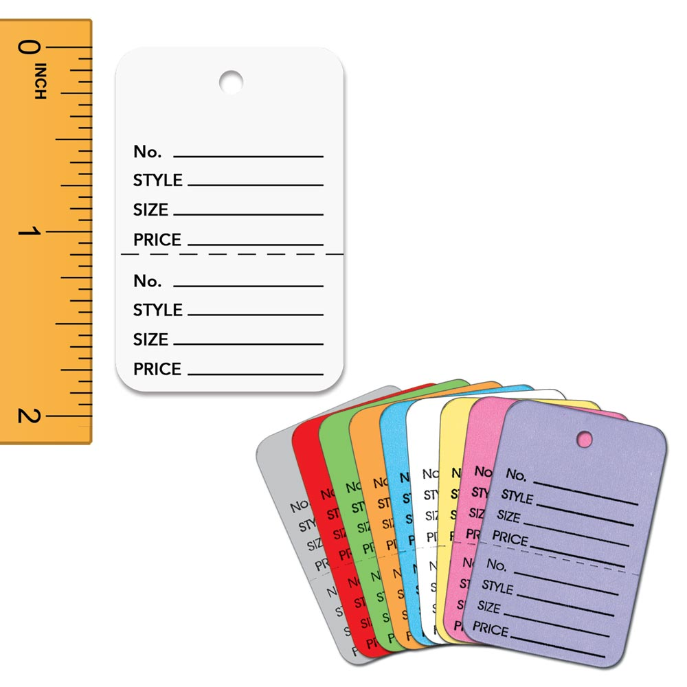 Small Colored Perforated Tag