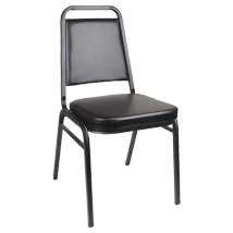 Set Of 4 Black Square Back Stack Chair - Restaurant Seats