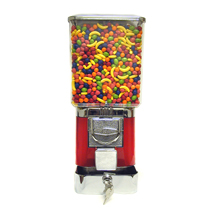 Bulk Candy Vending Machine With Coin Drawer - Red