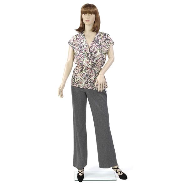 Female Plastic Mannequin with Left Arm Bent