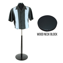 Male Jersey Form With Wooden Base - Black