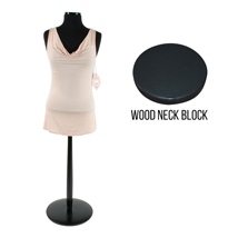 Female Jersey Form On Wooden Stand - Black