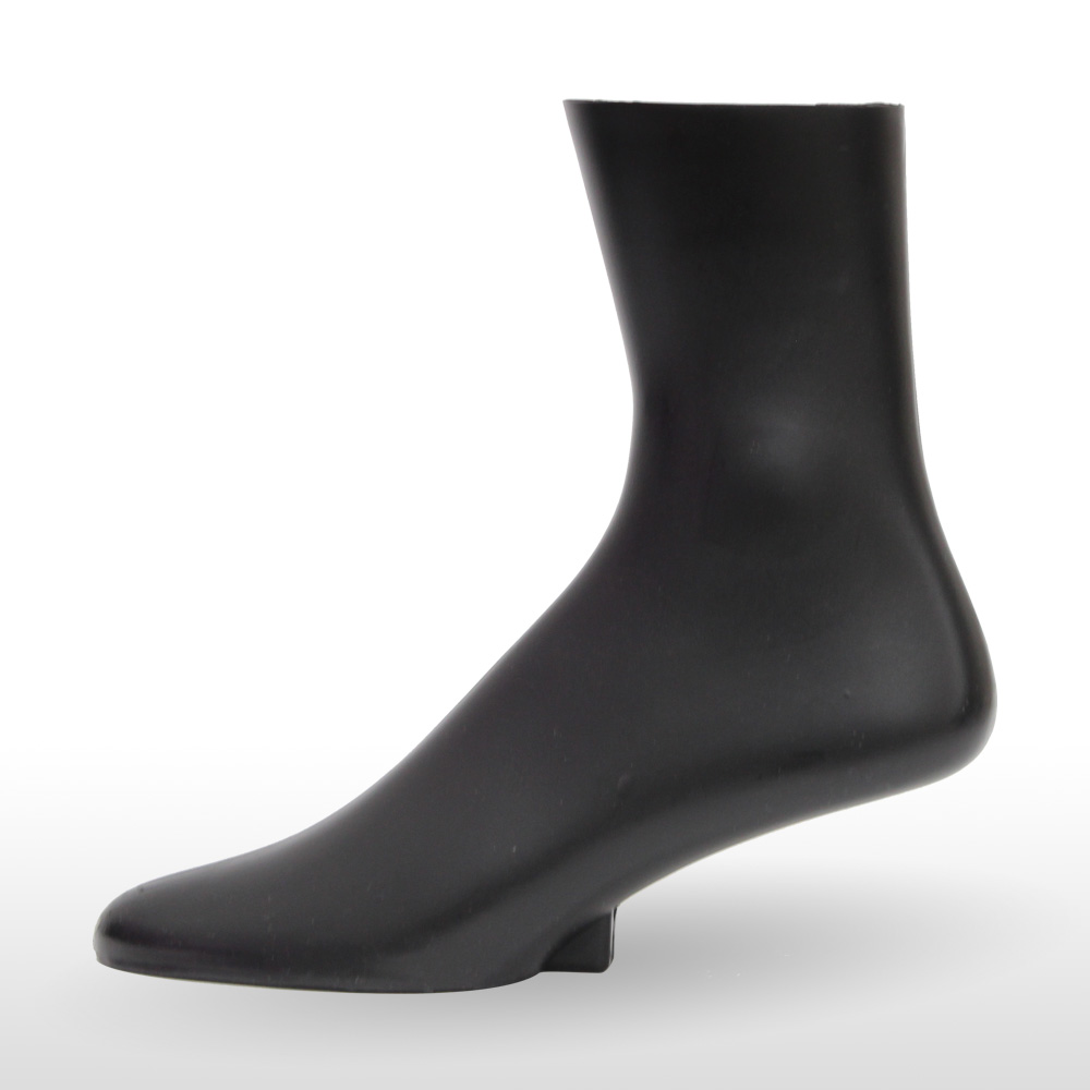"Low Calf 10"" Men's Sock Display Form - Black"