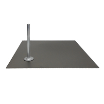 Square Metal Base For Fiberglass Mannequins