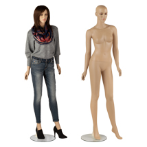 Plastic Flesh Tone Realistic Fully Body Female Mannequin