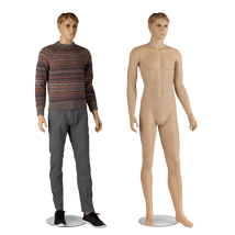 Male Plastic Flesh Tone Realistic Fully Body Mannequin