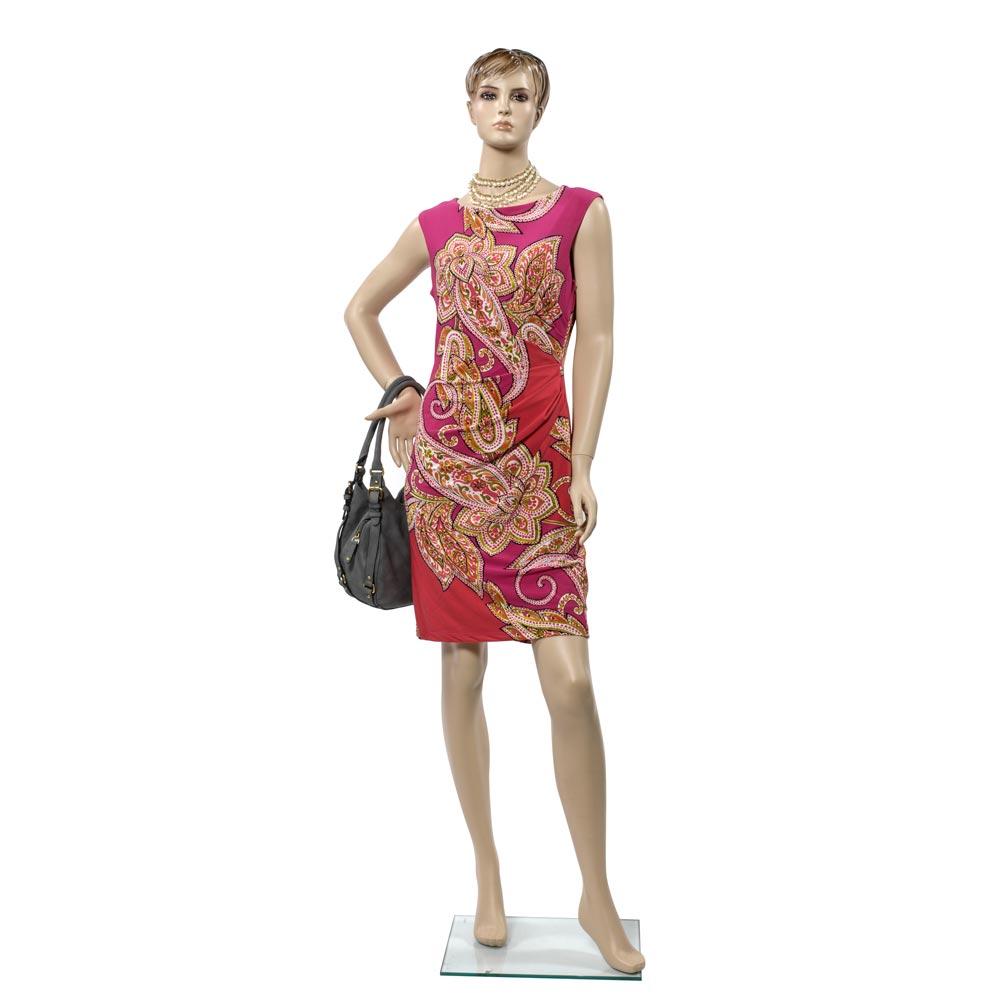 Female Fiberglass Mannequin with Molded Hair