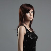 Brown Long Straight Hair Shoulder Length Female Wig