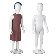 Unisex 4-5 Yr Old Child Plastic Glossy White Mannequin - Full Body or Headless