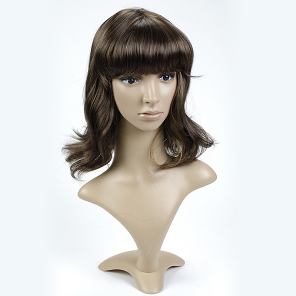 Medium Length Brown Mannequin WIG