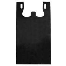 Black Plastic T-Shirt Bags - 17 x 8 x 29 - Box of 400