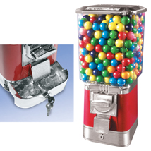 Red Gumball Candy Machine with Coin Drawer