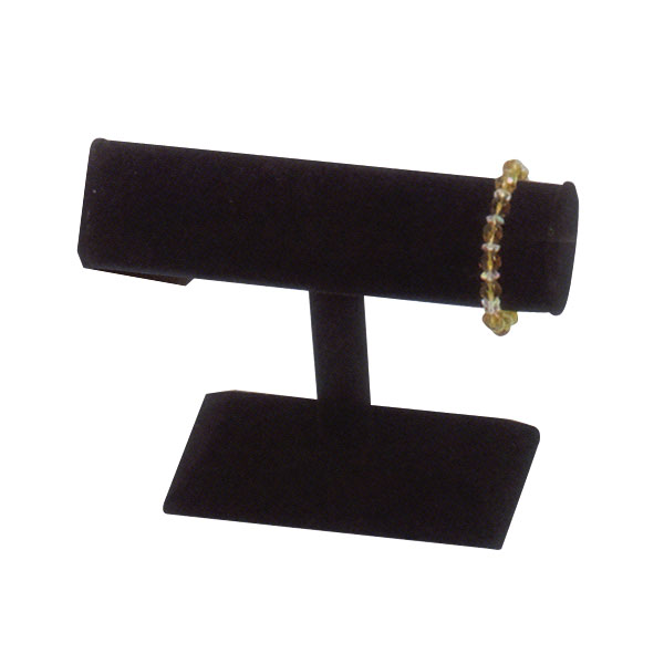 Black Leatherette T-Bar Bracelet And Watch Display
