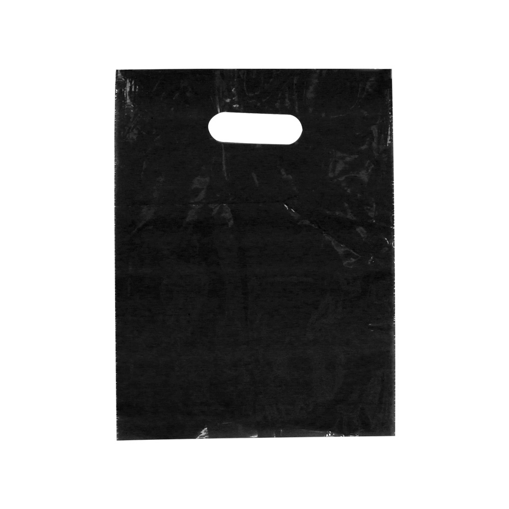Black Low Density Plastic Bag - 9 x 12  - Box of 1000