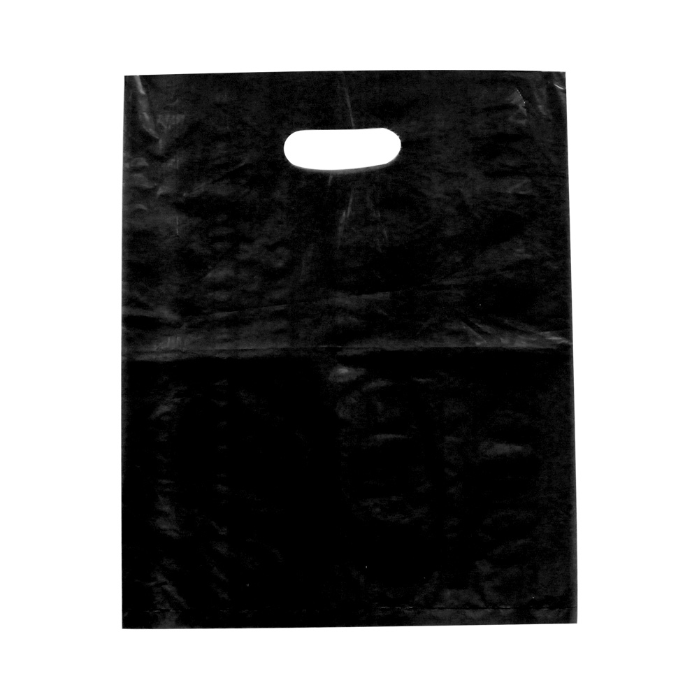 Black Low Destiny Plastic Bag - 12 x 15 - Box of 1000