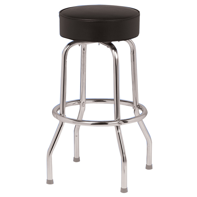 Black & Chrome Swivel Counter Stool