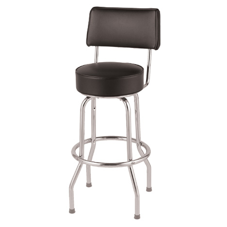 Black Counter Stool With Back Rest