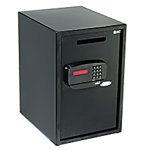 Digital Lock Safe With Credit Card Reader And Cash Drop Slot