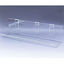 Acrylic Grid Shelf - 23 1/2 in. W x 5 in. D with 2 1/2 in. Lip