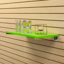 Green Laminated Wood Shelf - 12 In. W X 23 3/4 In. L