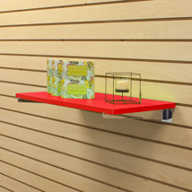 12 In. Wide Red Laminated Wood Shelf