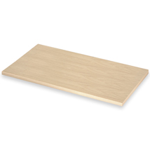 12 In. Wide White Oak Laminated Wood Shelf