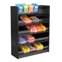 5 Shelf Floor Standing Snack Display - Black