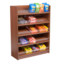 5 Shelf Floor Standing Snack Display - Cherry