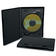 Black Single DVD Case With Full Sleeves
