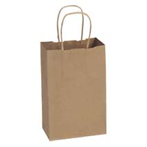 Kraft Paper Shopping Bag- 8.5 x 4.75 x 10.25 - Box of 250