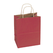 Scarlet Red Paper Shopping Bag- 8 x 4.75 x 10.25 - Box of 250