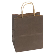 Chocolate Brown Paper Shopping Bag- 8. x 4.75 x 10.25 - Box of 250