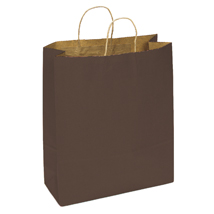 Large Chocolate Brown Paper Shopping Bag