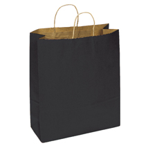 Black Paper Shopping Bag - 16 In. X 6 In. X 12 In.