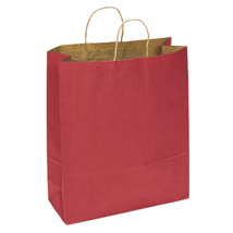 Large Scarlet Red Paper Shopping Bag