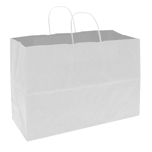 White Paper Shopping Bag- 16 In. X 6 In. X 12 In.