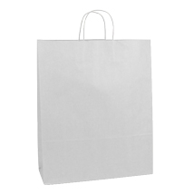 White Paper Shopping Bag- 16 x 6 x 19 - Box of 200