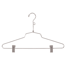 Chrome Metal 16 in. Combination Hanger