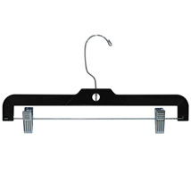 14 In Black Plastic Skirt & Pant Hanger - 100 Per Carton