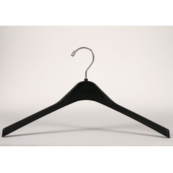 17 in Black Heavyweight Coat Hanger - 100 per carton