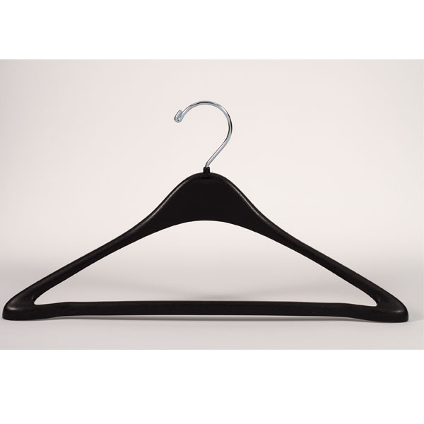17 In Black Heavyweight Suit Hanger - 100 Per Carton
