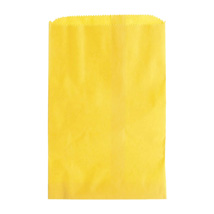 Small Yellow Paper Merchandise Bags