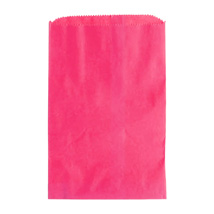Hot Pink Paper Merchandise Bag- 12 in. x 15 in.