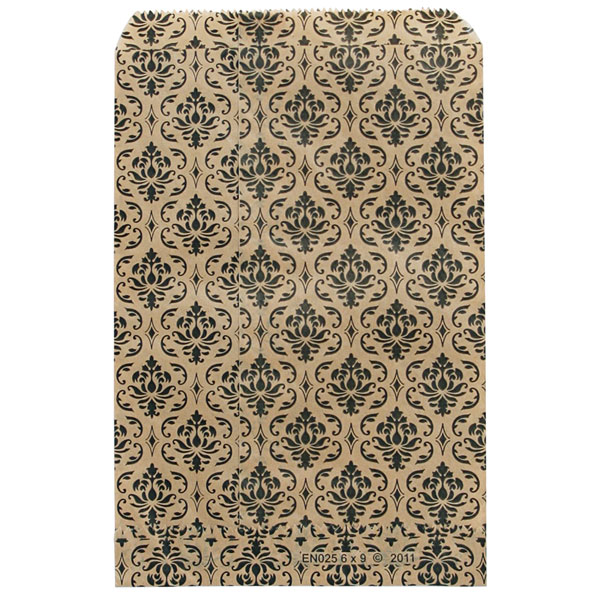 Damask Print Merchandise Bags - 6  X 9  - Box Of 1000