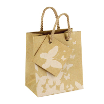 Kraft Paper Mini Gift Tote Bags - 3 X 3.5 - Box Of 100