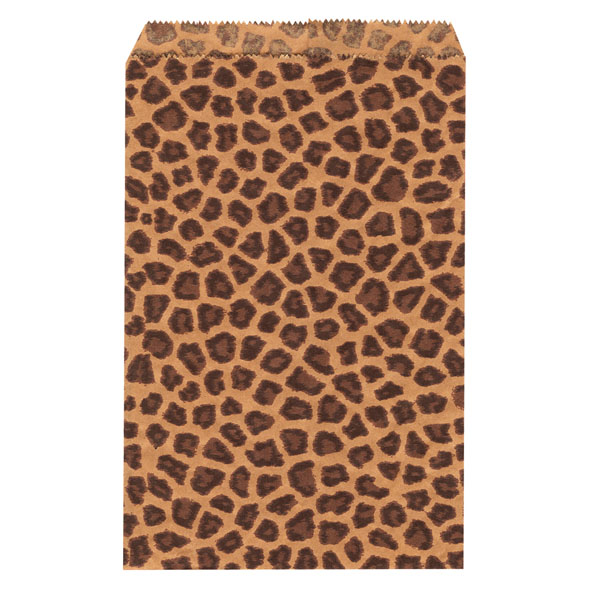 Leopard Print Merchandise Bags - 6 X 9 - Box Of 1000