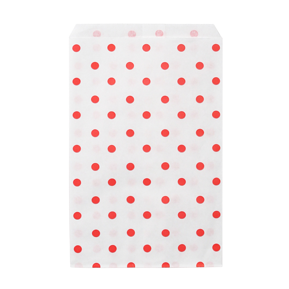 Red Polka Dot Paper Merchandise Bags