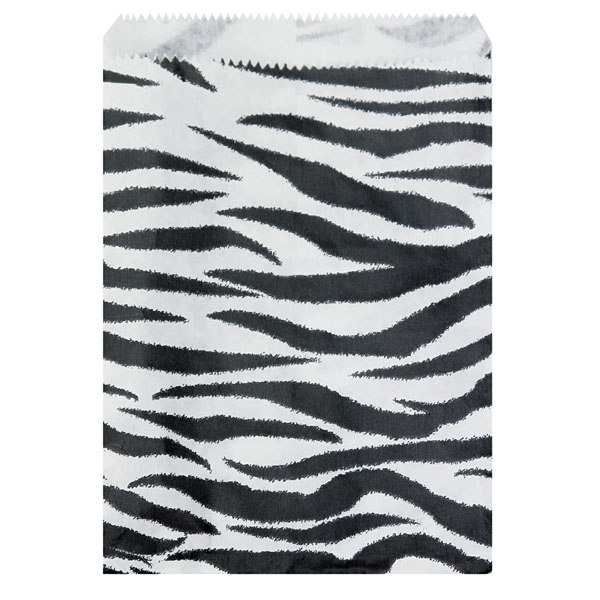 Zebra Print Merchandise Bags - 6 X 9 - Box Of 1000